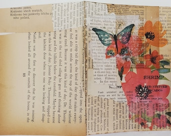 Printable Vintage Text CARDS (set of four original cards)