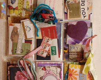 Pocket Letter - YOU DESERVE - collage,paper collection, happy mail, Art Trading Cards, junk journal