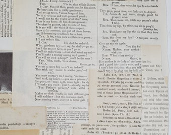 Printable Vintage Text Pages