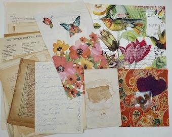 Junk Journal Bundle/ Vintage Pages/Mixed Media/ Collage