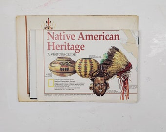 National Geographic Map Collection- Native American-gluebook, journal, Art journal, collage