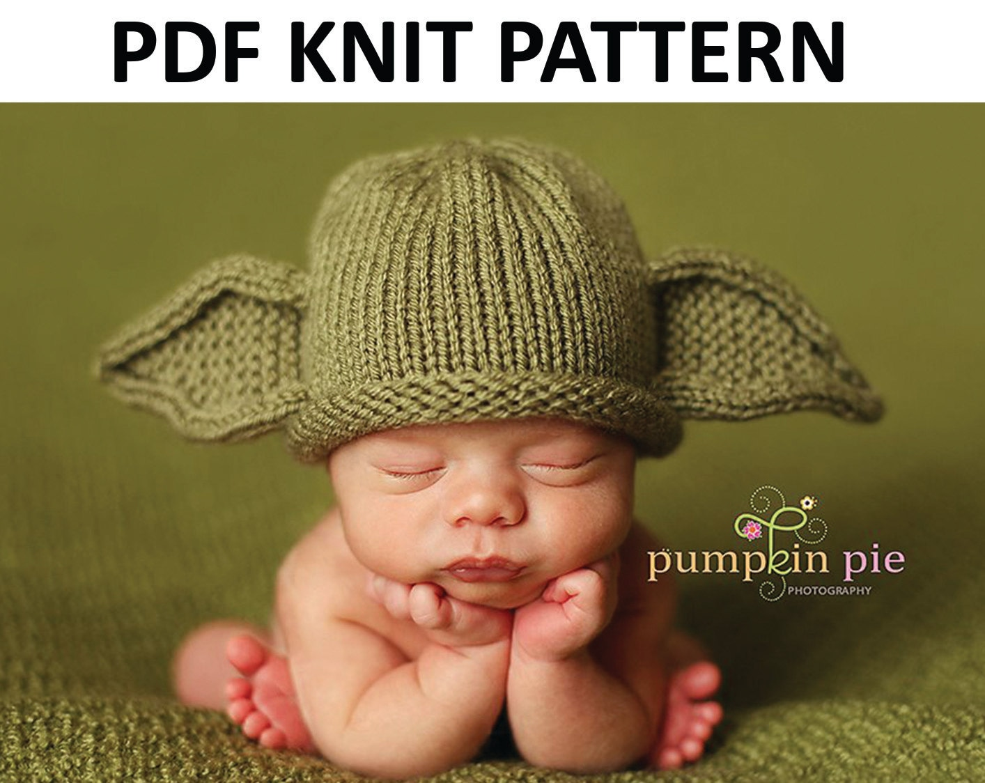 Yoda Hat Pattern Knit