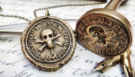 Skull and crossbones wax seal pendant whom virtue has aloadofball Gallery