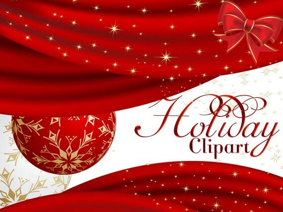 foto de Holiday Clipart Blank Christmas Card Design Clipart