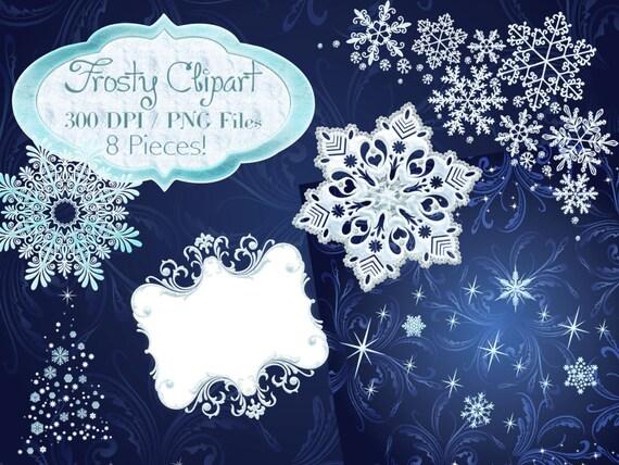 Winter Clipart Frosty Clipart Frosty Winter Frames Etsy