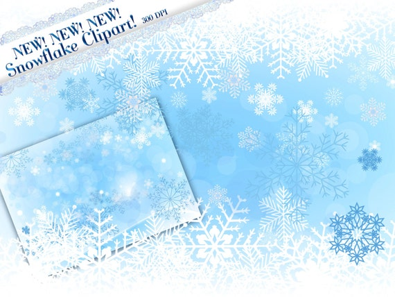 Snowflake Border Clipart Falling Snowflake Clipart Winter ...