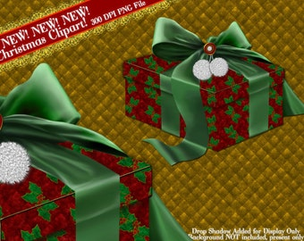 Christmas Clipart, Present Clip art, Christmas Present Graphic