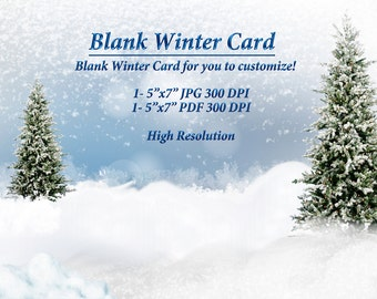 Winter Card, Snow Background Clipart, Blank Cards, Winter Clipart