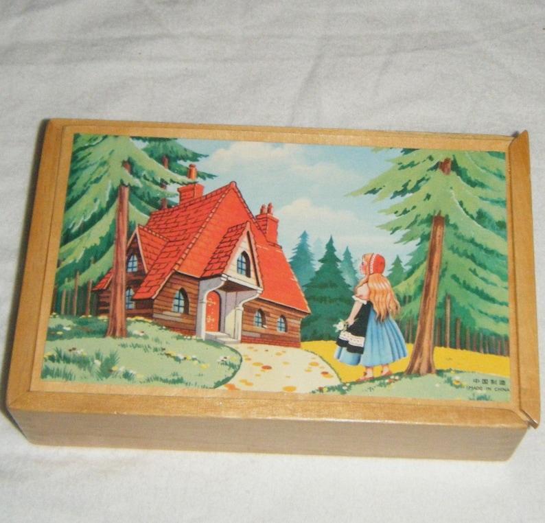 Vintage 1940s Embroidery Pattern ~ Goldilocks /& The Three Bears