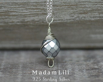 """925 Sterling Silver """"Greenland"""" Necklace (K925-43)"""