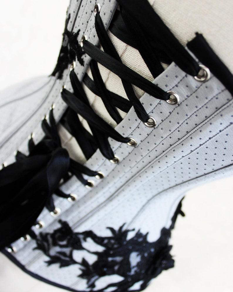 Grey spot broche underbust corset SAMPLE SALE