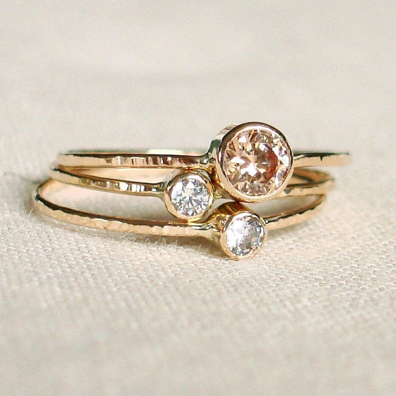 7a4f51226882a4 SOLID Gold Personalized Birthstone Rings Custom Mother