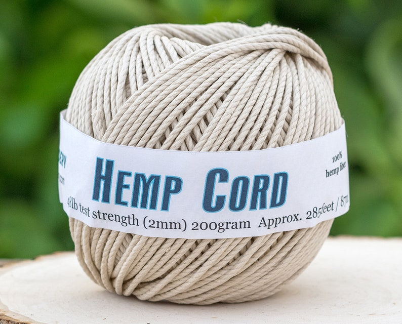 Hemp Cord 2mm, Natural Rope, Twisted Cord for macrame