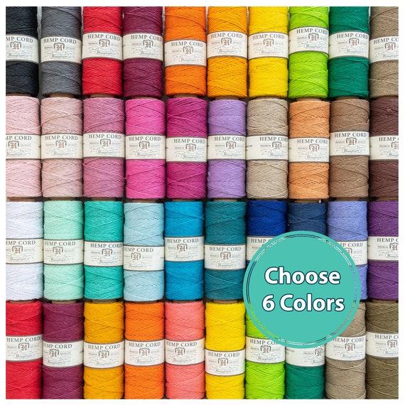 colored hemp twine Hemp Cord 1MM Macrame Cord Spools choose 6 colors