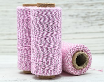 Pink Bakers Twine,   410 Feet, 1mm, Cotton, Eco Friendly, Bakers Cord, Twine - BT2