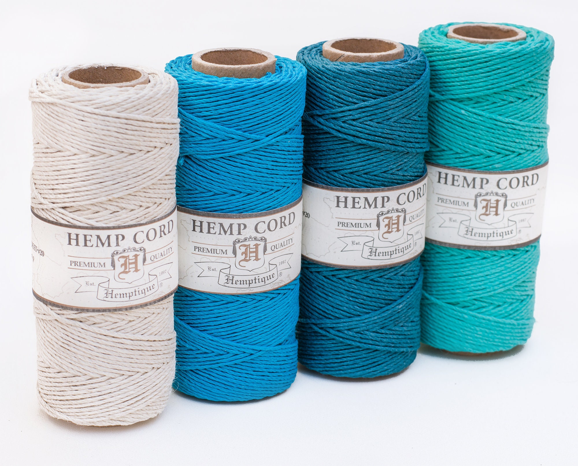 Colored Hemp Twine 1mm 4 Spool Pack Hemp Cord pack | Etsy