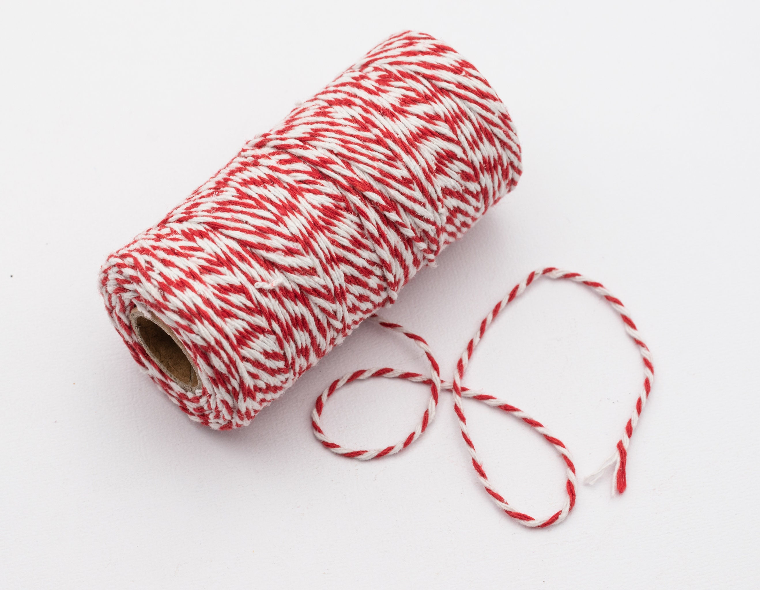 Bakers Twine Red White 3mm *4 Lengths*
