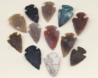 Arrowhead Charms, 12pcs, Stone,  Arrowhead Pendant,  Arrowheads -BN104