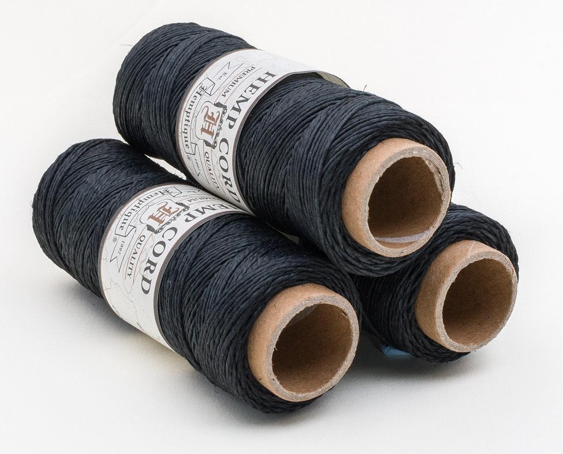 Black Macrame Cord .5mm, Jewelry Cord, Hemp Twine, Black Beading Cord -TW18