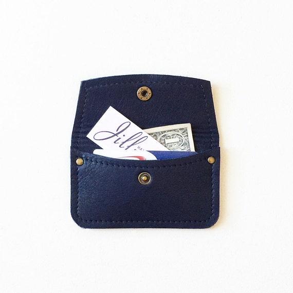 Portefeuille Marine Carte De Crdit ID Minimal Porte Visite Titulaire La