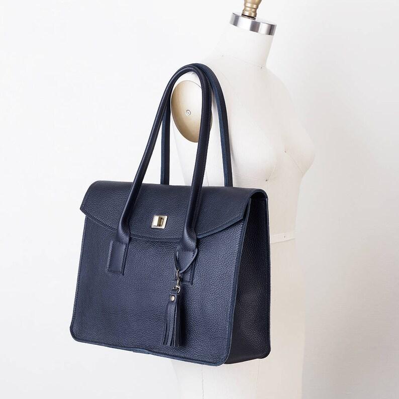 951e8b8e3 Women's Leather Briefcase Professional Laptop Tote | Etsy