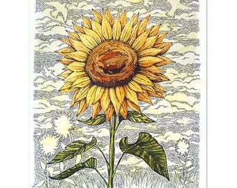 Sunflower Watercolor - Original