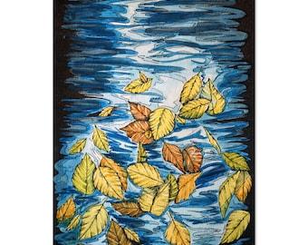Leaves on Water Watercolor - Original