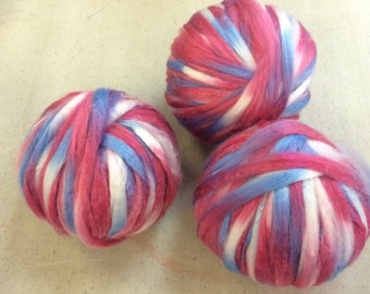 Cotton Candy Spaced-dyed Acrylic Roving