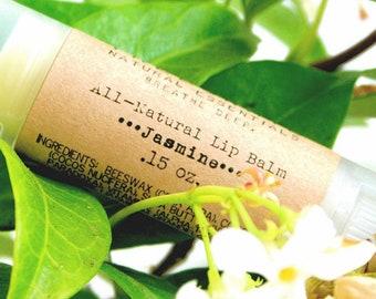 Jasmine Lip Balm / Organic Lip Balm / Natural Shea Butter Lip Balm / Handmade Lip Balm / Essential Oils / Natural Skin Care / Gifts for Her