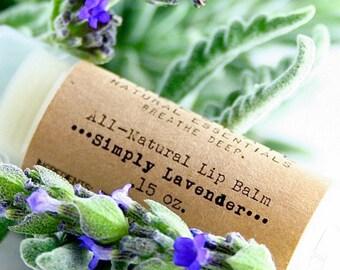 Lavender Lip Balm with Shea Butter / Organic Lip Balm / Natural Skin Care / Handmade Lip Balm / Essential Oil / Natural Lip Balm / Treesnail