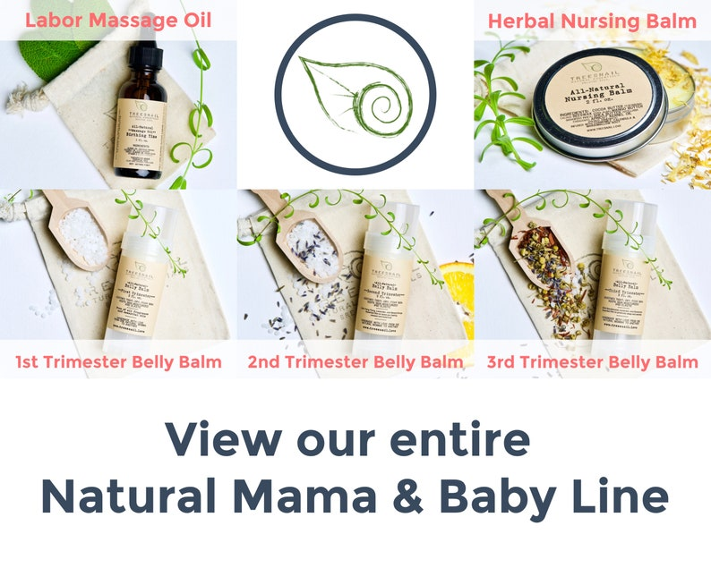 Second Trimester Organic Belly Balm with Cocoa Butter and Essential Oils •  Natural Stretch Mark Lotion Bar • Baby Shower Gift Idea