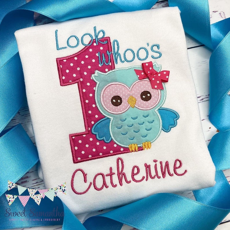 Look Whoo's One first Birthday Shirt  Personalized Owl Birthday