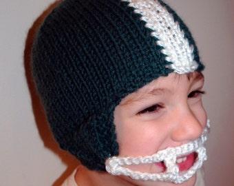 Knit PATTERN Football Helmet Hat PDF