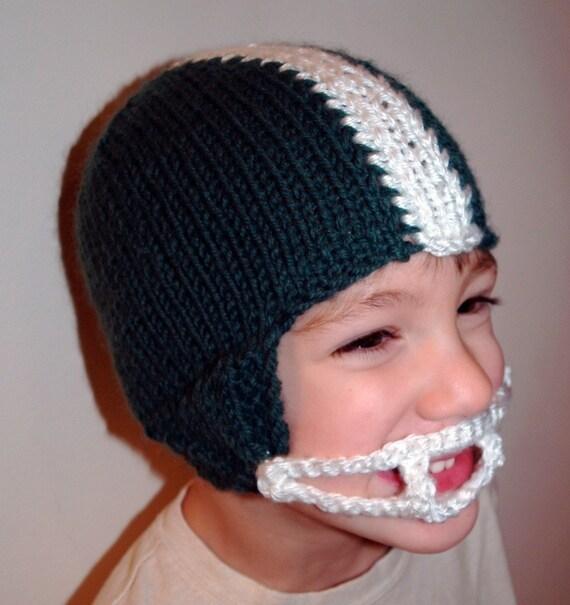 Knit Pattern Football Helmet Hat Pdf Etsy