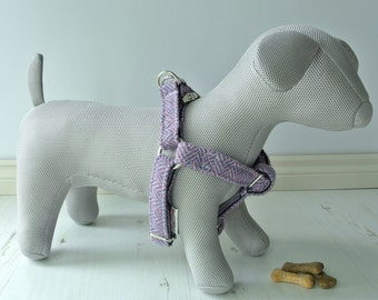 Harris Tweed Dog Harness, step in Harness, available in all colours and fabrics, tweed dog harness