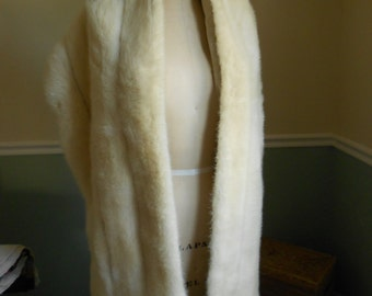 Mink Fur Stole /  Mink Shawl Wrap Caplet / 1950s / Wedding Wrap SALE