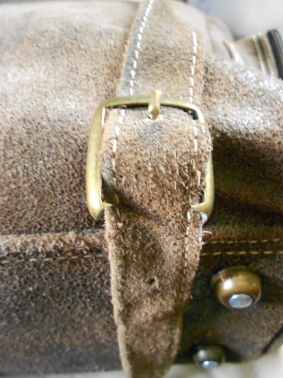 HUGH Leather Rucksack Backpack  / Brown Leather B… - image 5