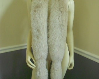 Fox Fur Boa / Large Collar  / Fur Scarf