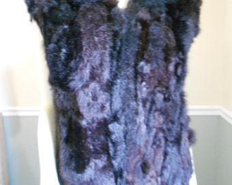 Fur Vest / Opossum Vest / Genuine Fur