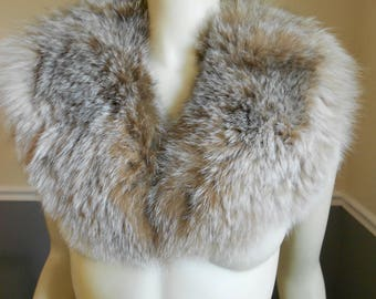 Fox Fur Collar / Multi Brown Fox Collar