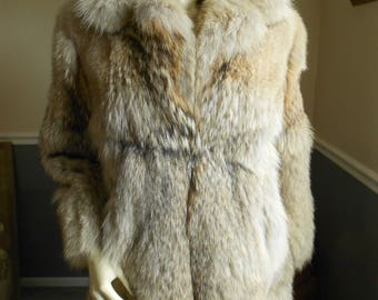 Coyote Fur Coat / Size Medium