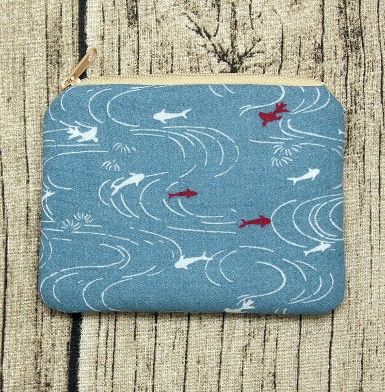 padded Fish in the pond ZS-238 Zipper pouch  coin purse  card bag