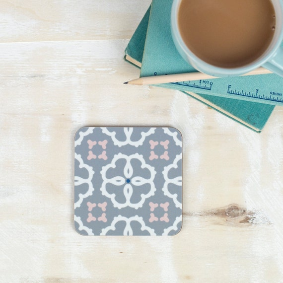 Ines Coaster Moorish Tiling Pattern Geometric Design Etsy