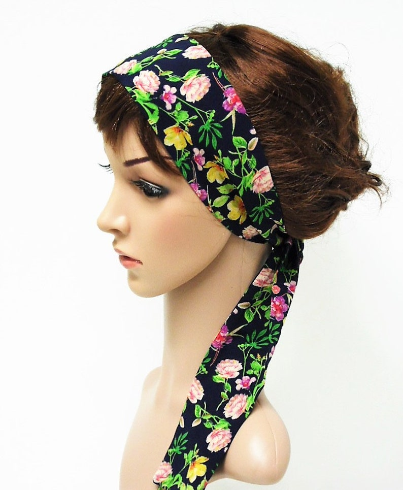 hair tie hair wrap hair scarf headscarf Long chiffon headband hair bandanna