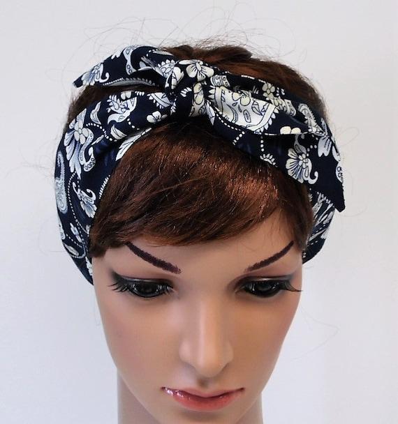 Pin Up Headscarf Bandanna Hair Scarf Stretchy Hair Tie Tie Up Headband