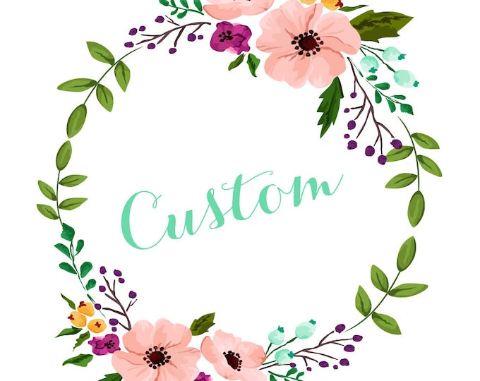 Custom Listing for Sue