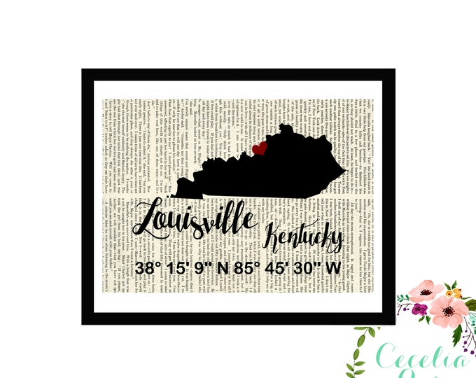 Louisville Kentucky Custom Coordinates