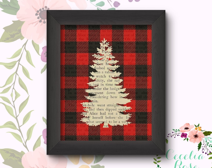 Buffalo Plaid Pine Tree