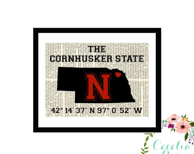 Nebraska Cornhuskers Huskers Memorial Stadium Latitude Longitude