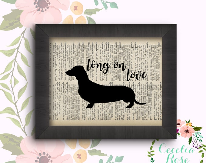 Long on Love - Dachshund - Weiner Dog